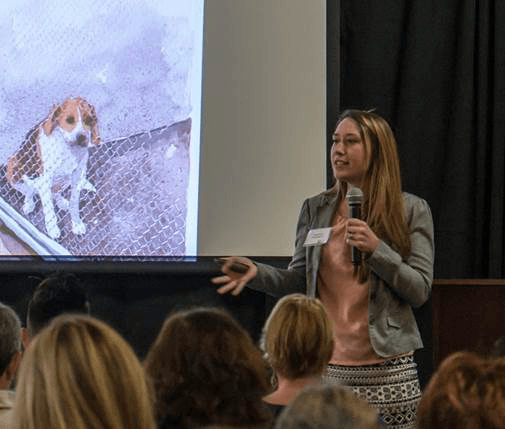Alexandra Protopopova Giving Presentation