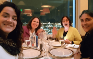 Carmen, Uli, and Wen with Marjie Alonso in Boston, April 2018